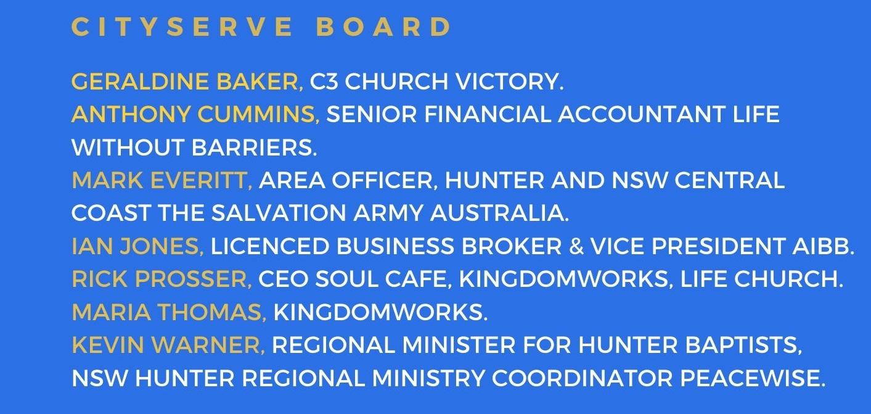 CityServe board